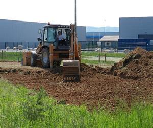 Décapage de terre végétale
