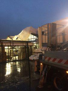 Intervention d'urgence suite aux forts vents dans la vallée du Roussillon, à Salaise-sur-Sanne